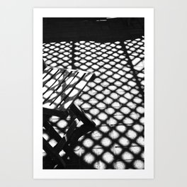 Sun Stained Chair  Art Print