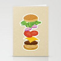 burger Stationery Cards featuring Burger by Daily Design