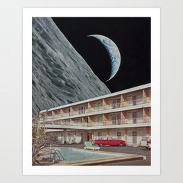 The Edge Motel Art Print