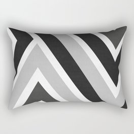 Black and white dynamic banners I Rectangular Pillow