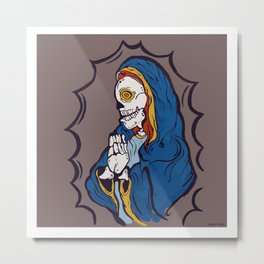 The Ojeros Ticked Virgin Mary  Metal Print