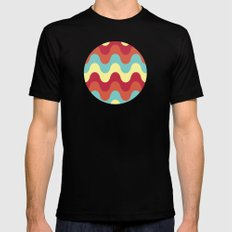melting colors pattern Black MEDIUM Mens Fitted Tee