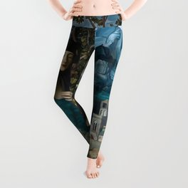 """Mystery woman in the forest among flowers"" Leggings"