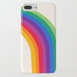Groovy - rainbow 70s 1970s style retro throwback minimal happy hippie art decor iPhone Case