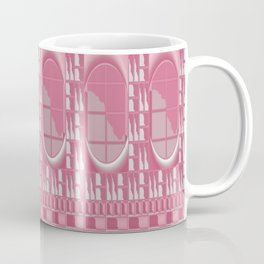Rose Pink Geometric Abstract Coffee Mug