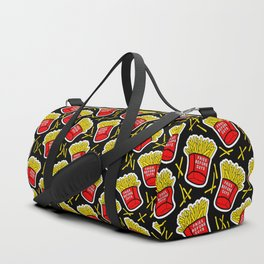 Fries before guys / Black Duffle Bag