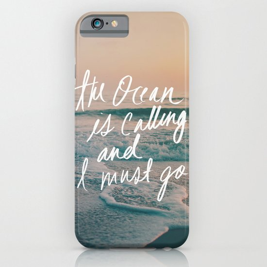 The Ocean is Calling by Laura Ruth and Leah Flores  iPhone & iPod Case