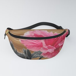 hibiscus on the wood Fanny Pack