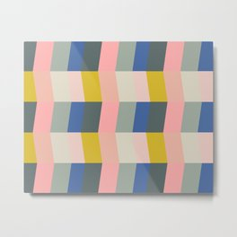 Shapes and Color Pattern 102 Metal Print