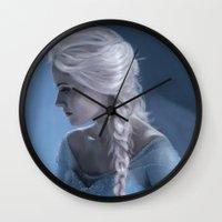 elsa Wall Clocks featuring Elsa by LindaMarieAnson