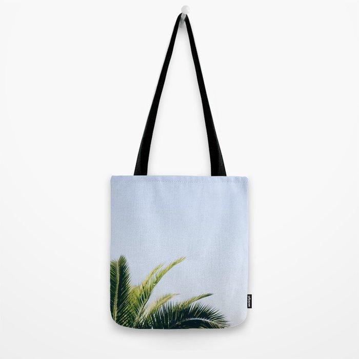 Green Palm Tree Tote Bag