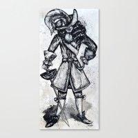 captain hook Canvas Prints featuring captain Hook  by Tricia Kibler
