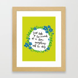 Ten Seconds - Lime Framed Art Print
