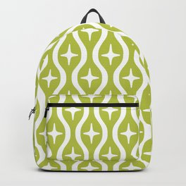 Mid century Modern Bulbous Star Pattern Chartreuse Backpack