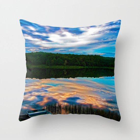 Evening Reflection Throw Pillow
