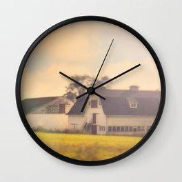 Morning At The Dairy Wall Clock