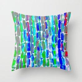 Blue Green Sugar Throw Pillow