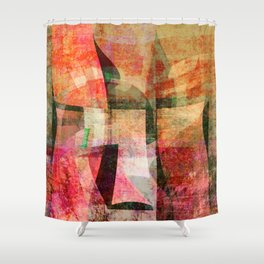 i see a face Shower Curtain