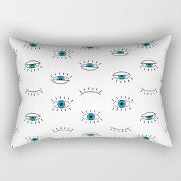 Evil Eye Pattern Rectangular Pillow