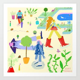Plant Party Art Print