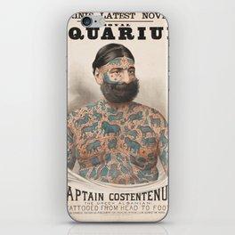 Vintage Tattoo Print of Captain Costentenus iPhone Skin
