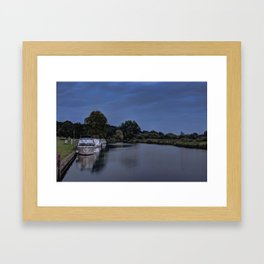 River Bure Coltishall at twilight Framed Art Print