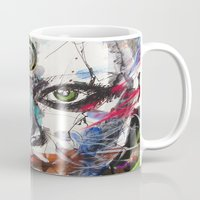 third eye Mugs featuring third eye by yossikotler