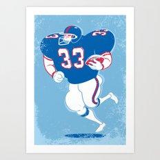 American Footballer Art Print