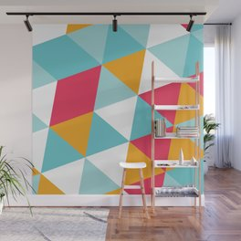 Tropical Triangles Wall Mural