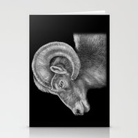 ram Stationery Cards featuring Ram by Tim Jeffs Art