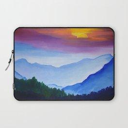 Smokey Mountain Sunset Laptop Sleeve