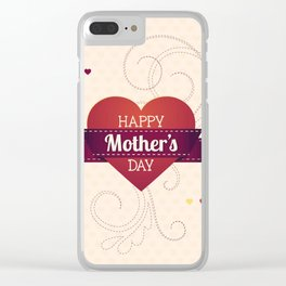 Mother's Day Clear iPhone Case