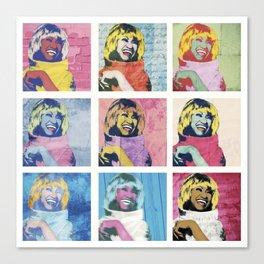 Celia Cruz Pop Art - The Immortal Queen of Salsa - Magical Realism Canvas Print