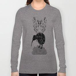 Black and white KIWI Long Sleeve T-shirt
