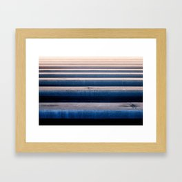 Abstract Horizontal Line Pattern Framed Art Print