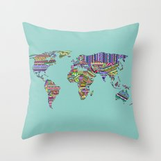 Overdose World Throw Pillow
