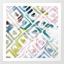 Awash | Colorful Geometric Print Art Print