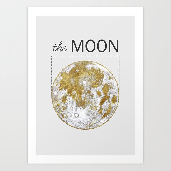 Golden Moon Art Print