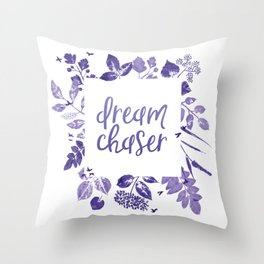 Dream Chaser Purple Ombre Throw Pillow