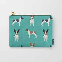 Rat Terrier dog breed pet art dog pattern gifts unique pure breed Carry-All Pouch