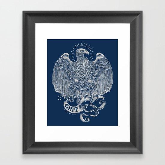 Grit Eagle Framed Art Print