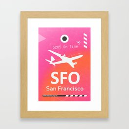 SFO San Francisco Framed Art Print
