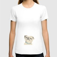 bulldog T-shirts featuring bulldog by Cecilia Sánchez