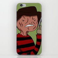 freddy krueger iPhone & iPod Skins featuring Adventure Time with Freddy Krueger by MrDamnKids
