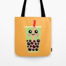 Happy Pixel Bubble Tea Tote Bag