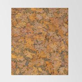 Leaves Motif Pattern Photo Throw Blanket