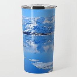 Ice Lake Iceland Travel Mug