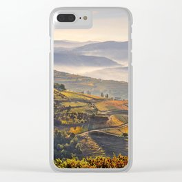 morning mist in the Douro Valley, Portugal Clear iPhone Case