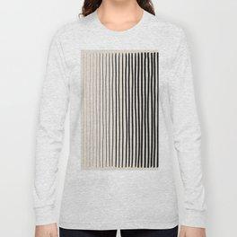 Black Vertical Lines Long Sleeve T-shirt