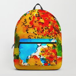 Fall colours ink and watercolour Backpack